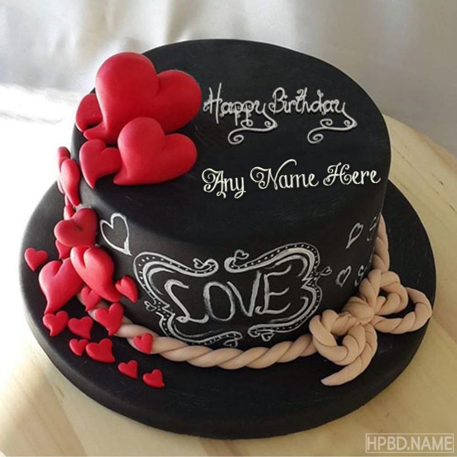 Tremendous Happy Chocolate Love Birthday Cakes With Name Generator Personalised Birthday Cards Akebfashionlily Jamesorg