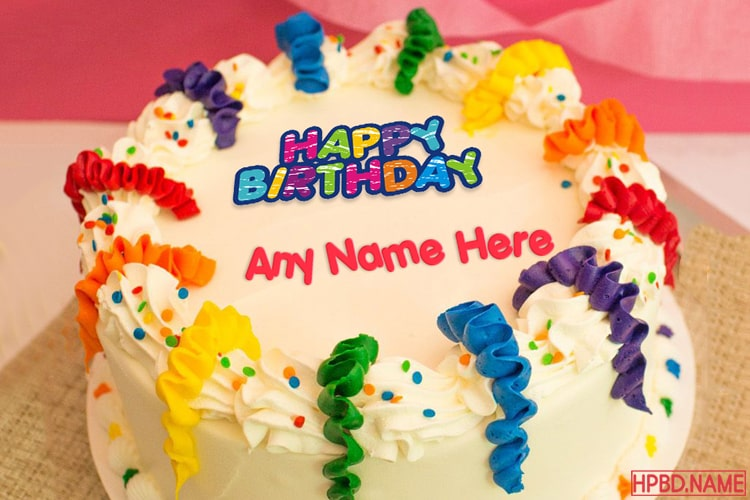 Peachy Happy Birthday Cakes With Name Generator Funny Birthday Cards Online Sheoxdamsfinfo