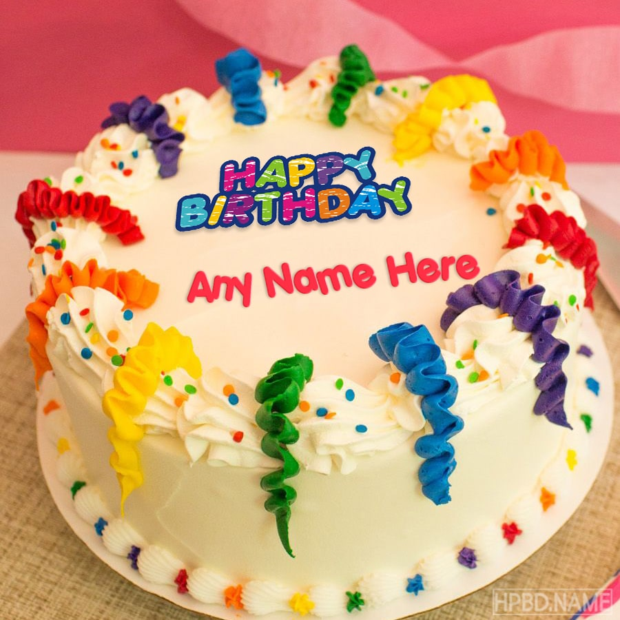 Birthday Cake With Name Free Download
