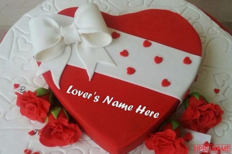 Special Happy Valentine Cake With Name Edit