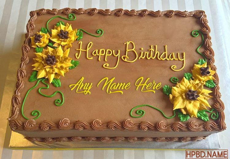 Marvelous Best Sunflower Cakes Images With Name Edit Funny Birthday Cards Online Necthendildamsfinfo