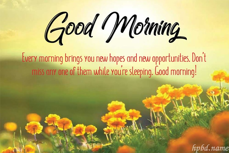 Customize Good Morning Greeting Cards Online