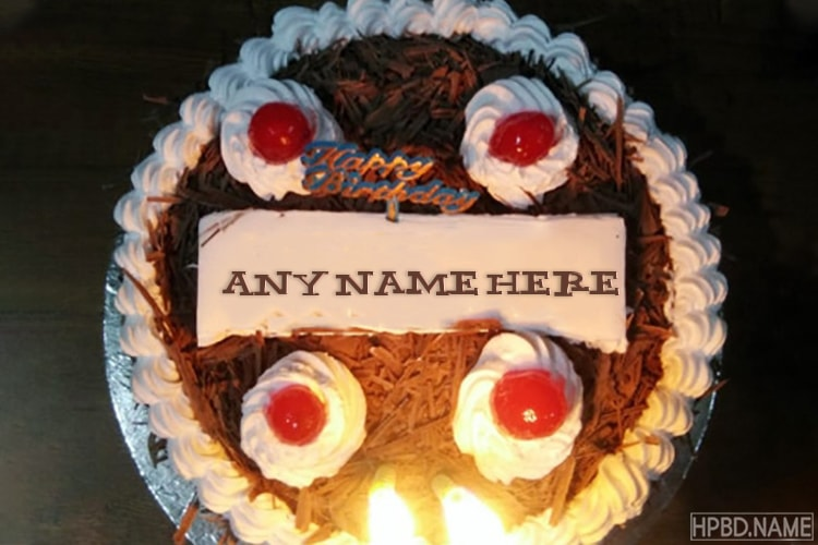 Strawberry Chocolate Birthday Name Cakes Online