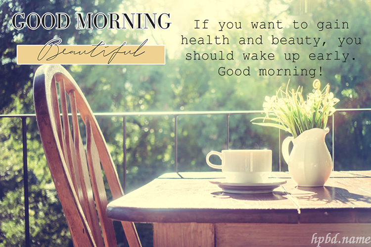 Write Wishes on Good Morning Greeting Cards Images