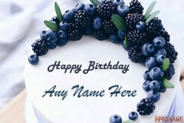 Astonishing Happy Blueberry Birthday Cakes With Name Editor Personalised Birthday Cards Paralily Jamesorg