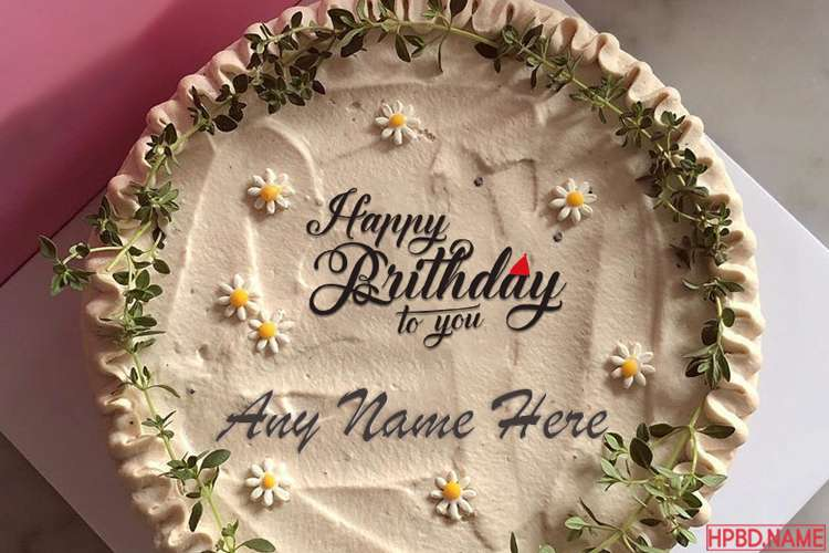 Spring Flowers Happy Birthday Name Cake Images
