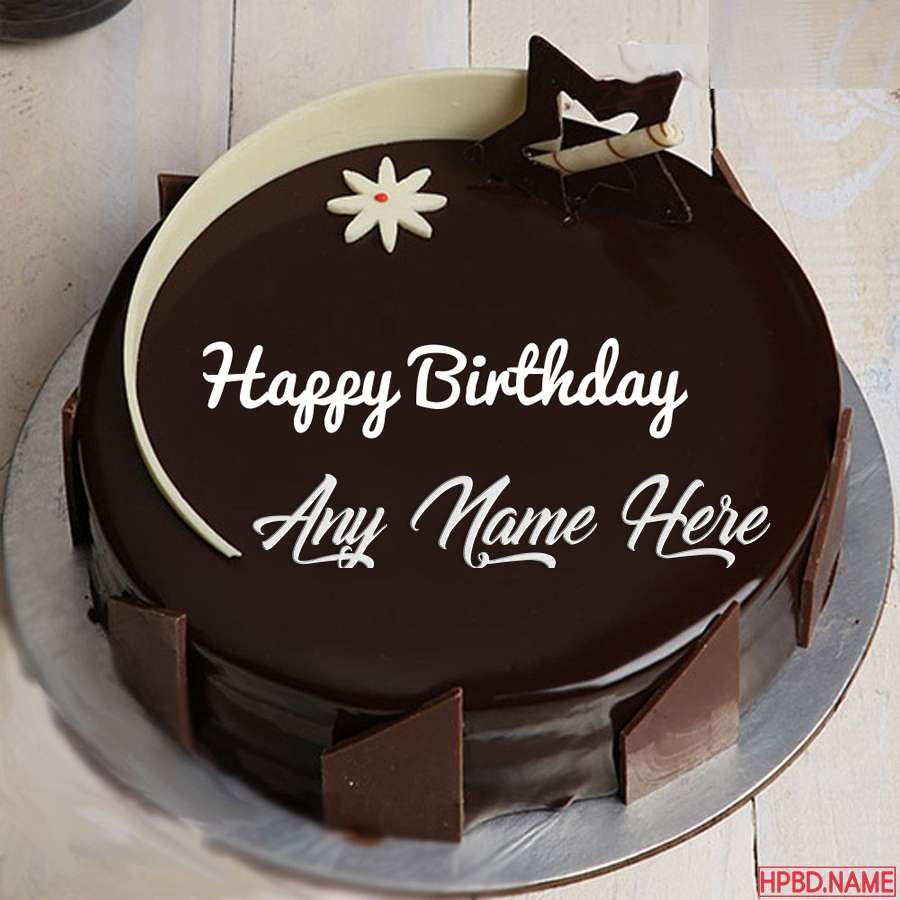 Strange Dark Chocolate Birthday Cake By Name Editing Funny Birthday Cards Online Aeocydamsfinfo