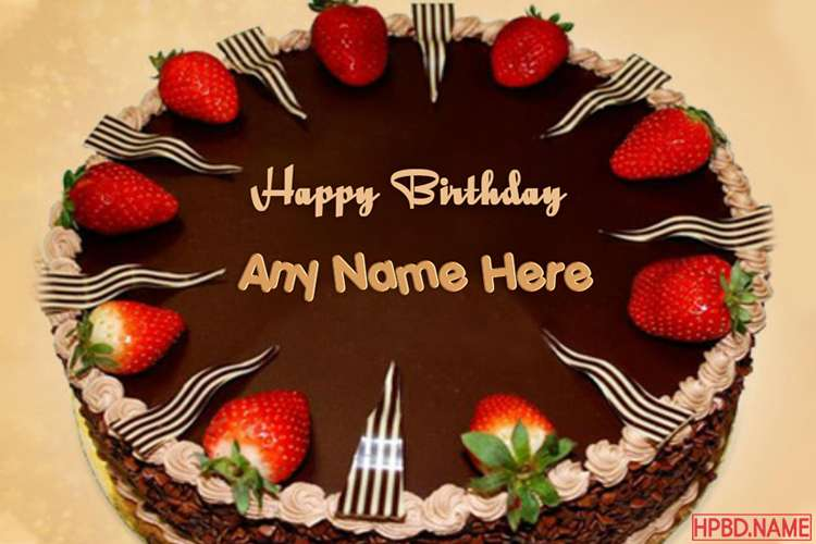Beautiful Chocolate Birthday Cake Writing With Name
