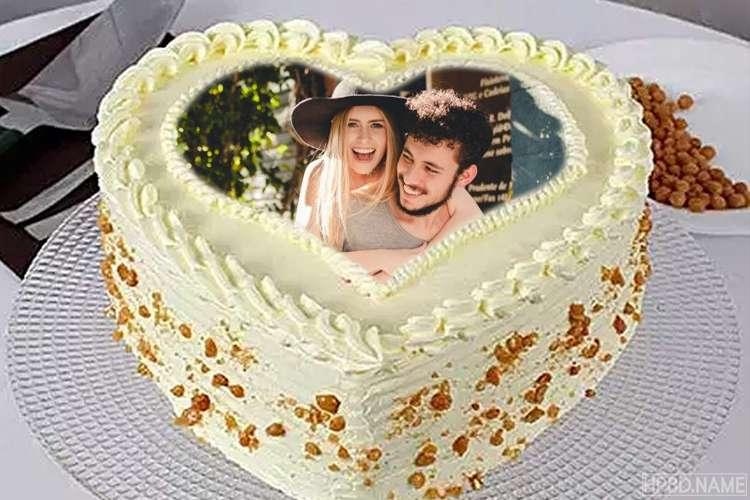 Heart Icecream Cake With Photo Edit