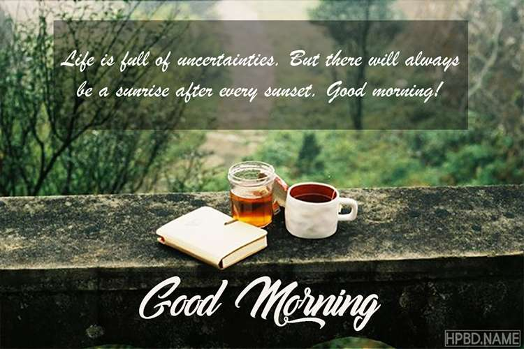 Everyday Good Morning Cards With Tea Cup