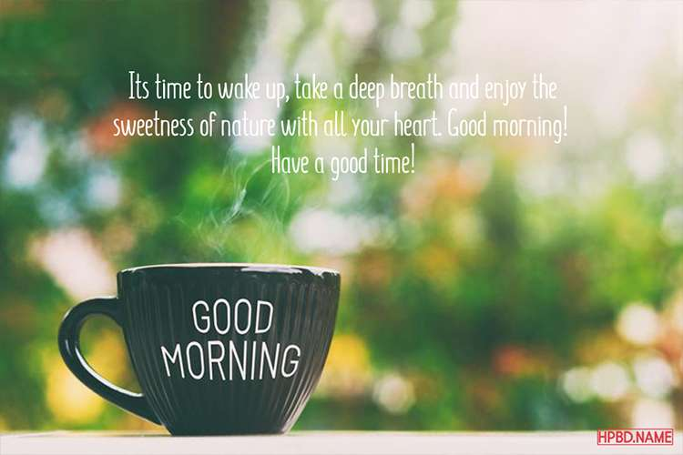 Beatiful Good Morning Wishes with Tea Cups