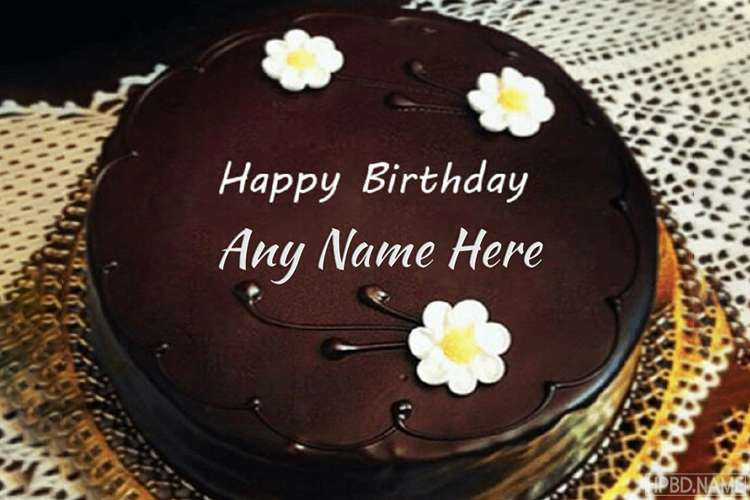 Happy Birthday Delicious Chocolate Cakes With Name