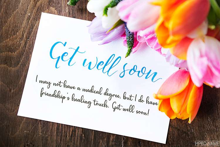 Latest Get Well Soon Greeting Cards With Flowers