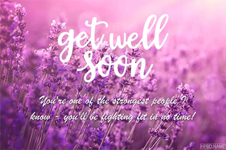 Free Flower Get Well Soon Wishes Card for Friends