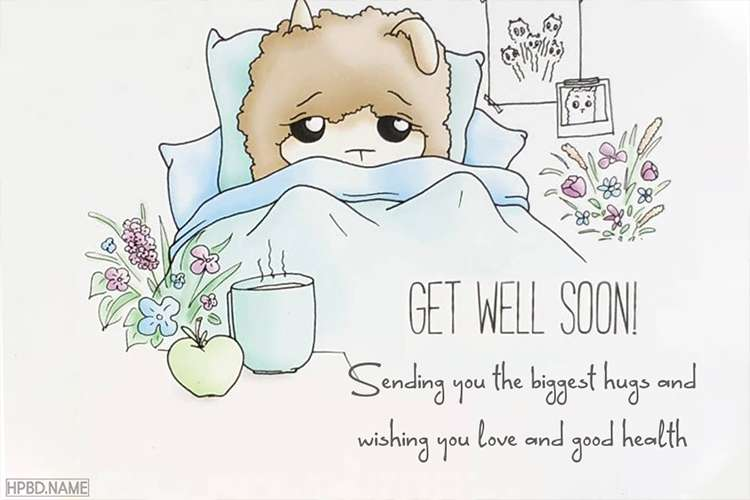 Everyday Get Well Soon Card - Write Wishes on Get Well Cards