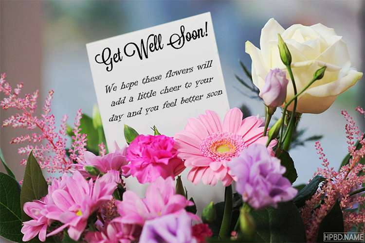 Create Fresh Flowers Get Well Soon Cards in Minutes