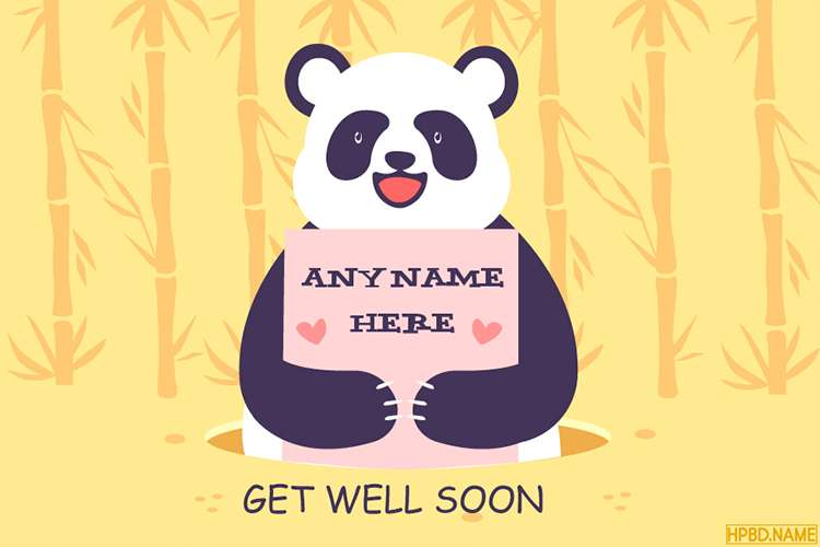 Make Funny Get Well Soon Card With Name Online