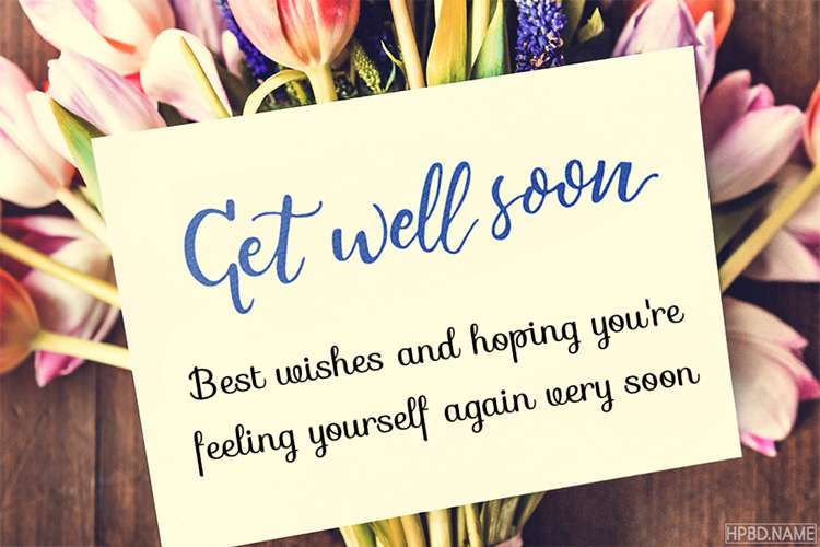 write wishes on get well soon flower card images