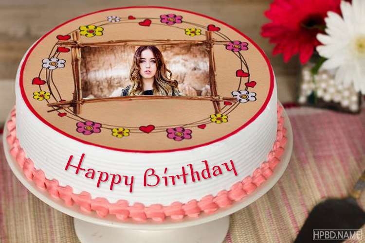 Phenomenal Special Happy Birthday Cake With Photo Frame Funny Birthday Cards Online Fluifree Goldxyz