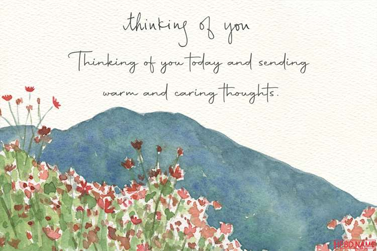 Lovely Floral Simple Thinking of You Card