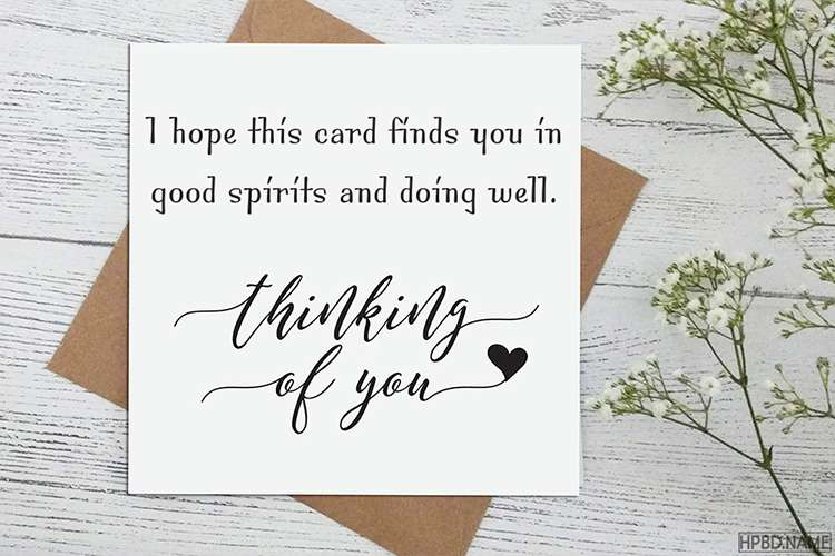 Free Online Thinking of You Message Cards