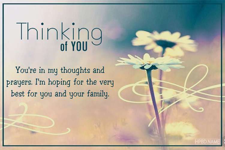 Create Thinking of You Greeting Card Template