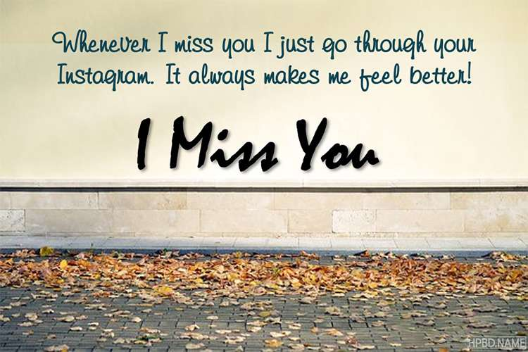 Create I Miss You Image Cards Online
