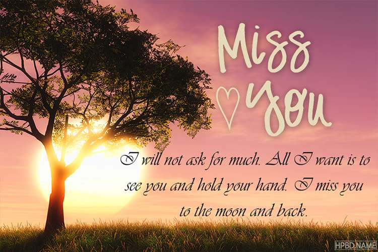 Customized I Miss You Cards Online