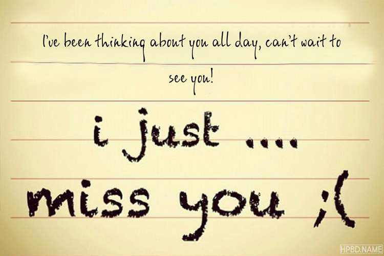 Create Custom Miss You Note Cards Online Free