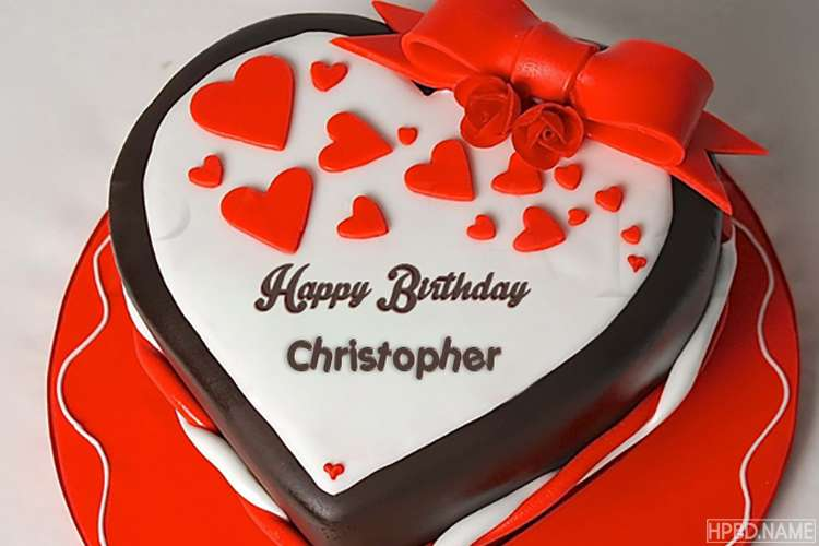Romantic Heart Shaped Birthday Cake With Name For Love