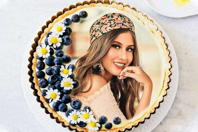 Blueberry Surprise Birthday Cake With Your Photo