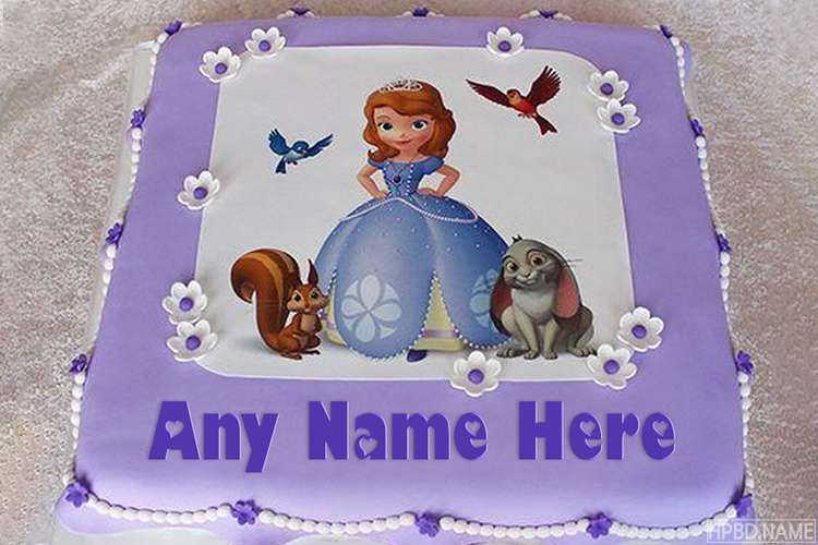 Best Princess Sophia Cake With Name Edit