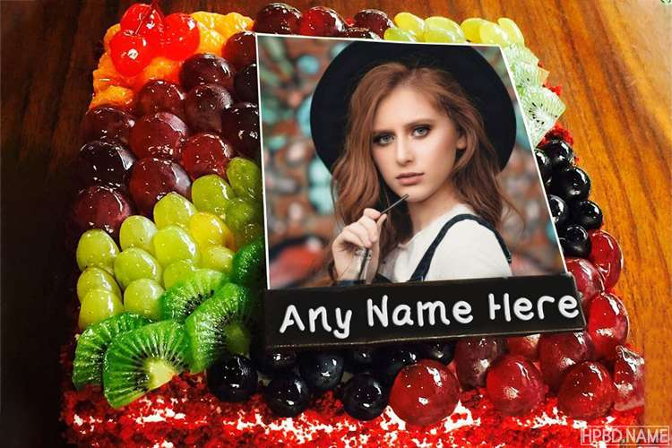 Birthday Wishes Fruit Cake With Friend Name And Photo
