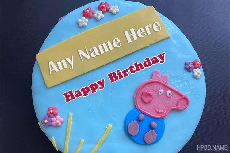 Princess Peppa Pig Birthday With Name