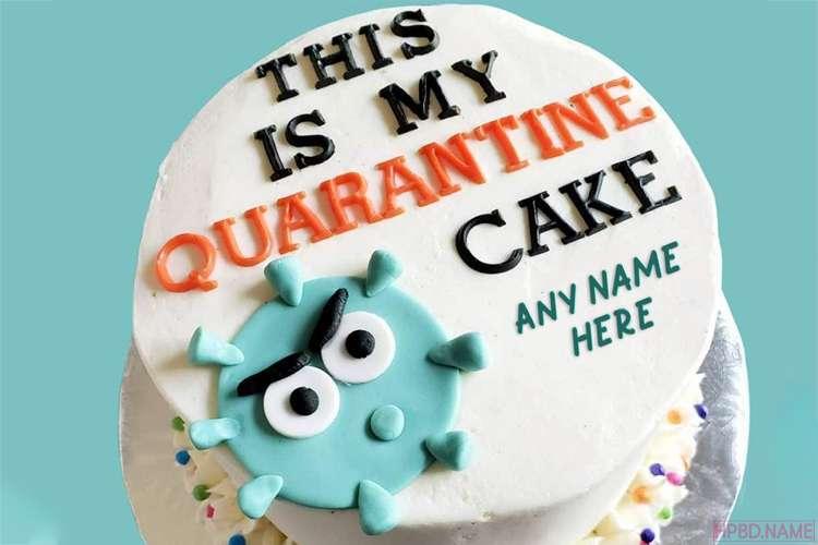 Free Coronavirus Birthday Cake With Name