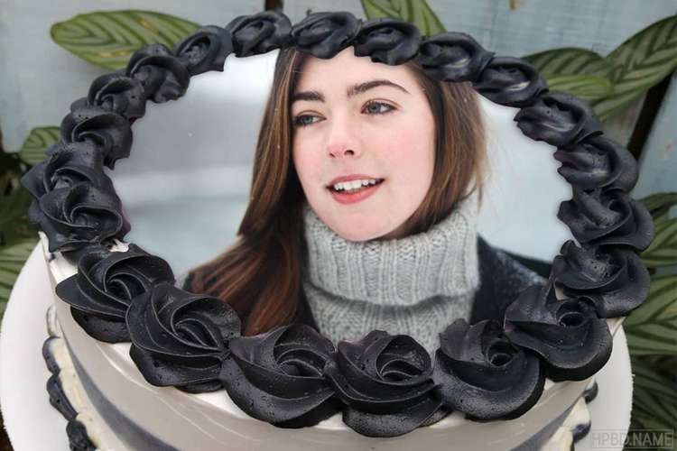 Print Photo On Unique Black Rose Birthday Cake