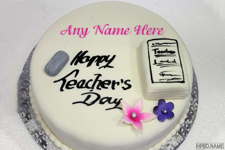 Happy Teacher's Day Cake  With Your Name