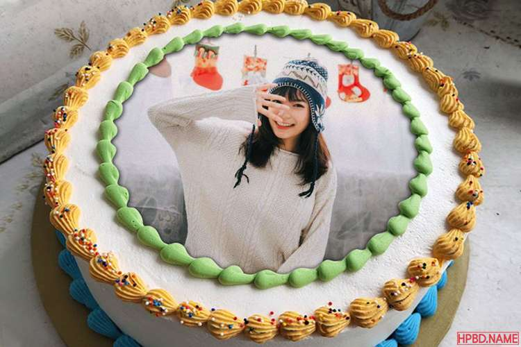Happy Birthday Cake With Photo Edit