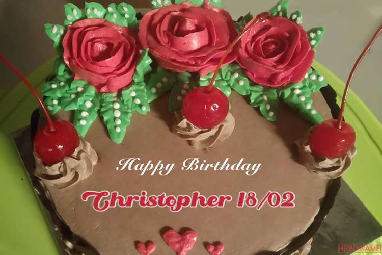 Red Rose Birthday Cake With Name Images