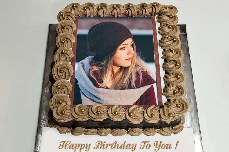 Beautiful Chocolate Birthday Cake With Name And Photo