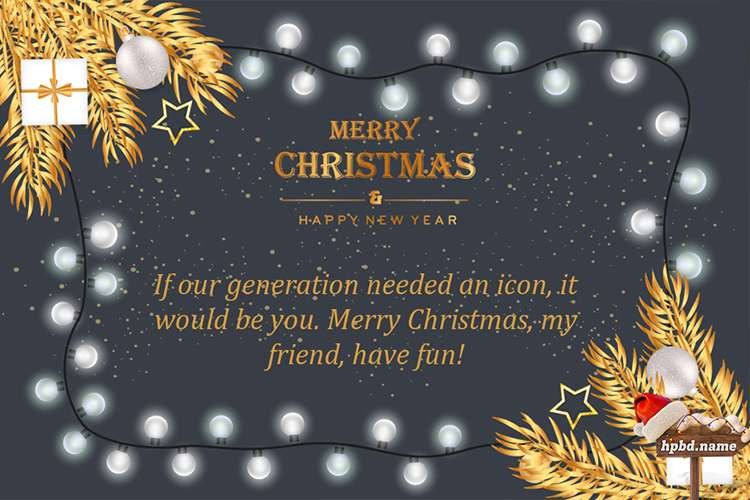 Sparkle Lights Christmas Greeting Card With Wishes