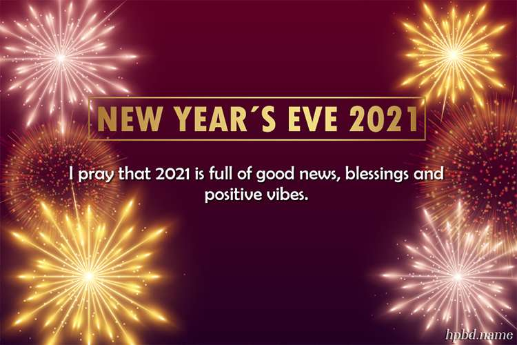 Fireworks New Year's Eve 2021 Greeting Wishes Card Images