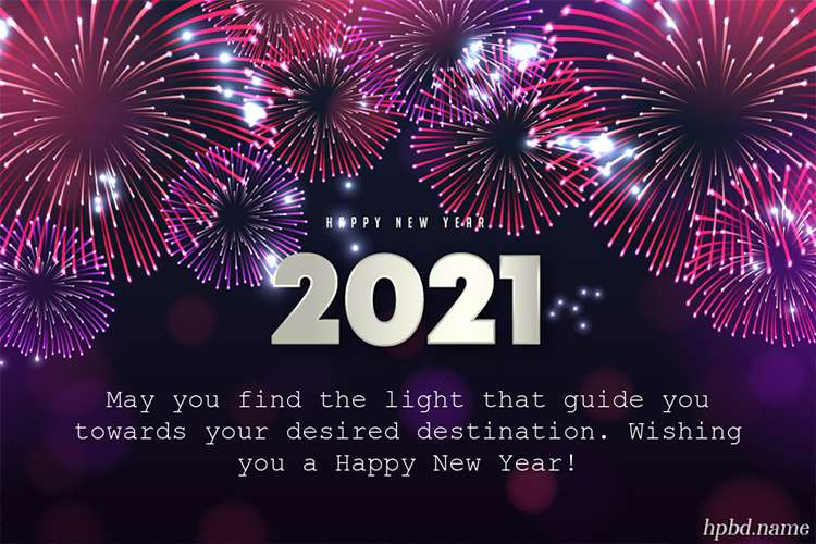 Happy New Year 2021 Fireworks Card Images