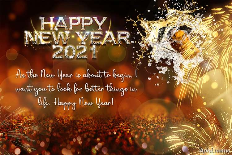Latest Sparkle Meaningful 2021 New Year Greeting Card