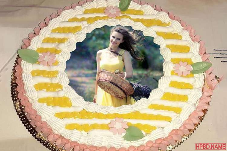 Decorate Lovely Birthday Cake With Photo Frames