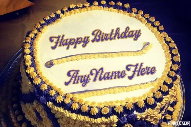 Vignette Birthday Cake With Name