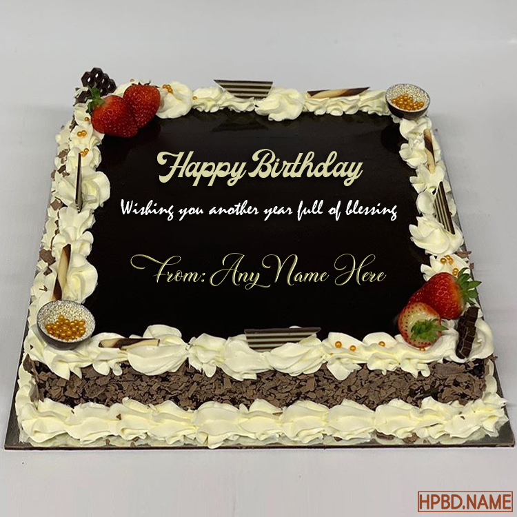 chocolate birthday wishes cake with name online