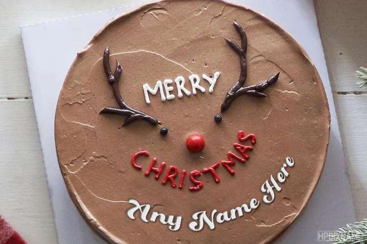 Chocolate Christmas Cake With Your Name