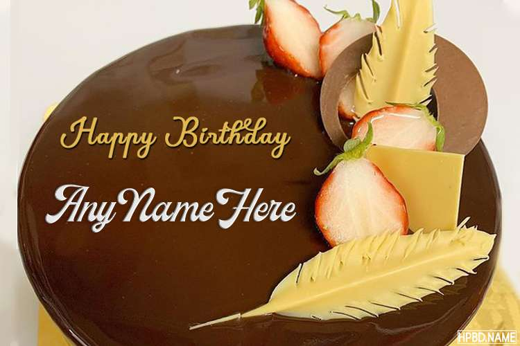 Happy Birthday Chocolate Cake By Name Editing