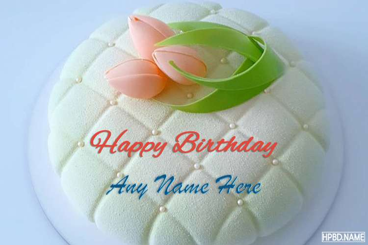 Best Tulip Birthday Cake Of Name Generator